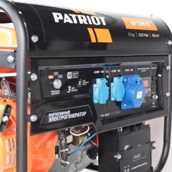 Бензиновый генератор PATRIOT GP 7210LE фото 2
