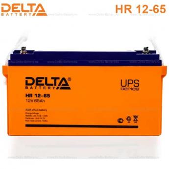 Аккумулятор Delta HR 12-65UPS фото 1